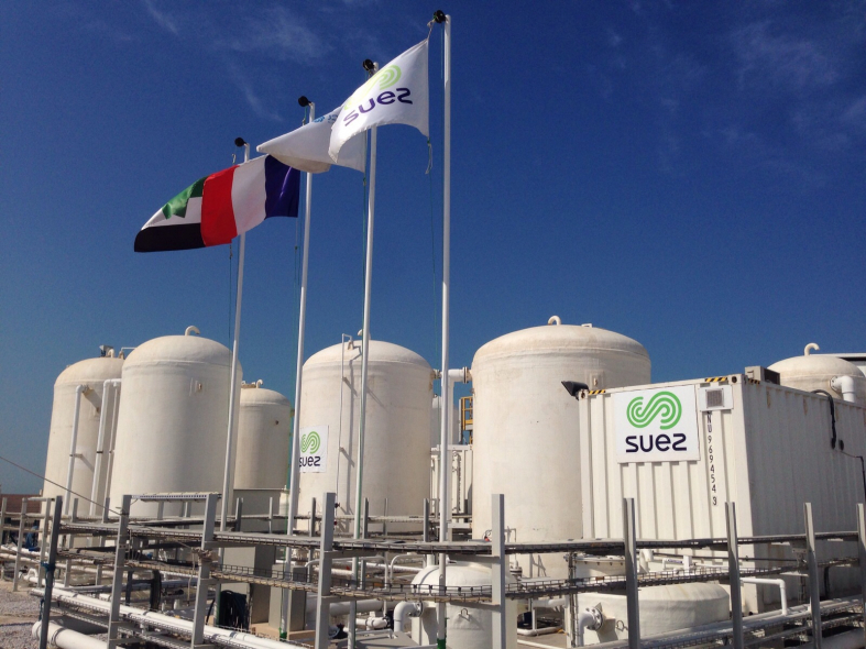 Masdar's solar desalination plant in Abu Dhabi