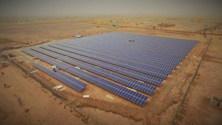 A solar park in UAE