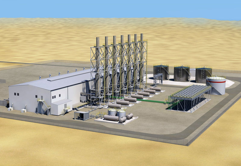 A 3D image of the Masirah power plant