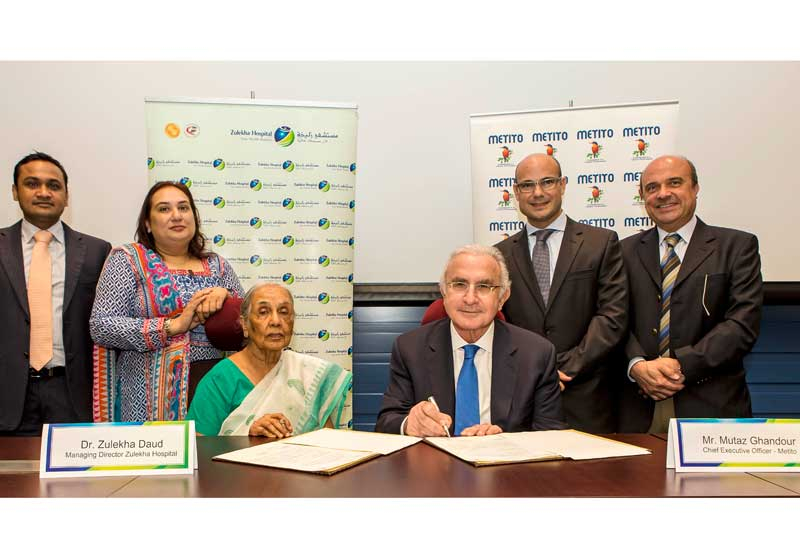 Metito and Zulekha sign the MoU.