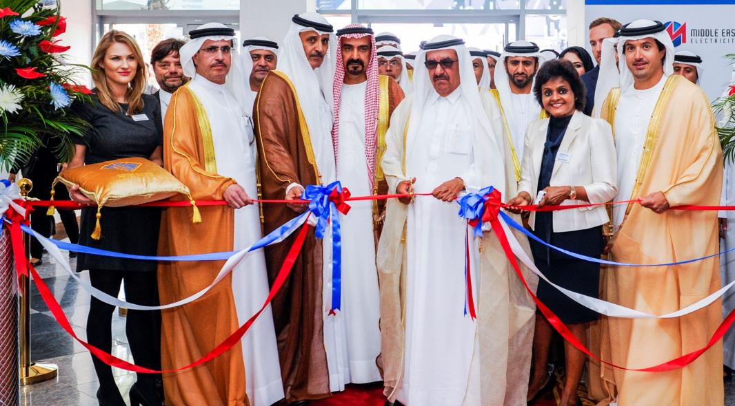 HH Sheikh Hamdan bin Rashid Al Maktoum, deputy ruler of Dubai and the minister of finance and industry of UAE opening MEE 2016