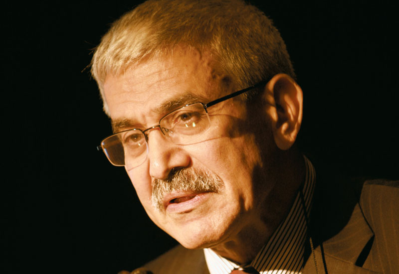 Adnan Shihab-Eldin, former secretary general of OPEC, speaking at the GCC Nuclear Summit.