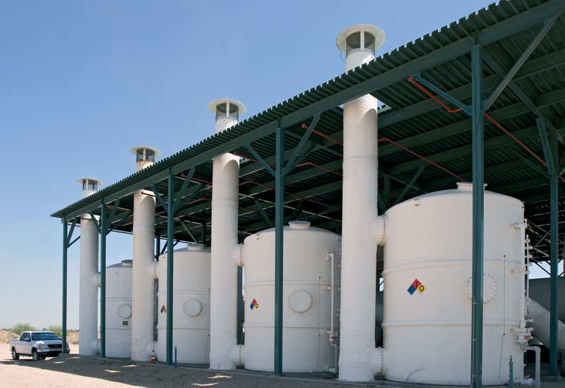 Carbon adsorbers installed by Siemens at a Saudi wastewater treatment plant.