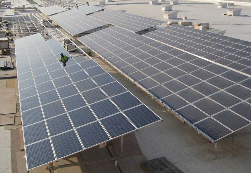 Qatar National Convention Centre's rooftop farm provides 12.5% of the building's power.