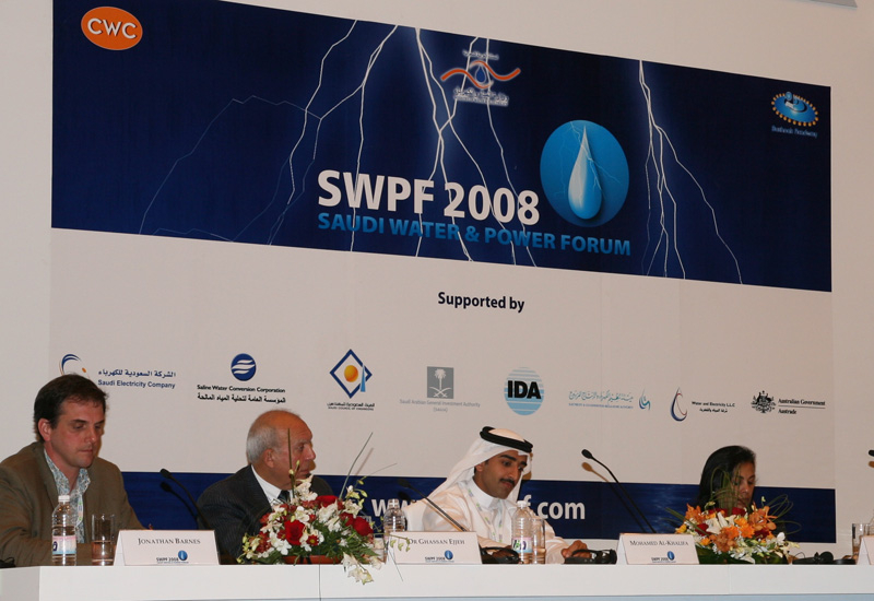 Panellists at last year's Saudi Power and Water Forum.