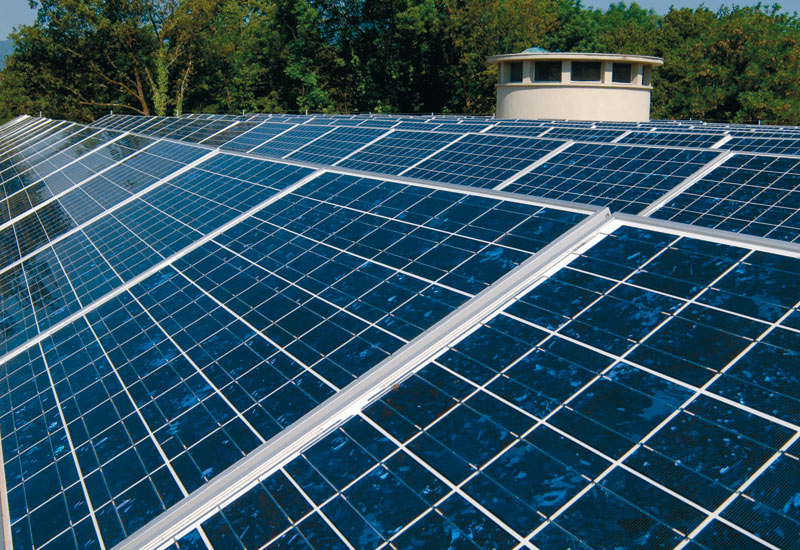 Silicon is the main ingredient in solar energy panels.