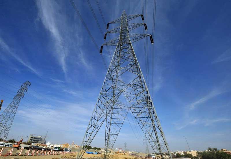 Pylons in Saudi Arabia.