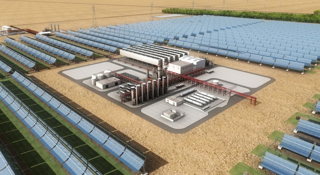 Shams 1 has a generating capacity of 100MW.