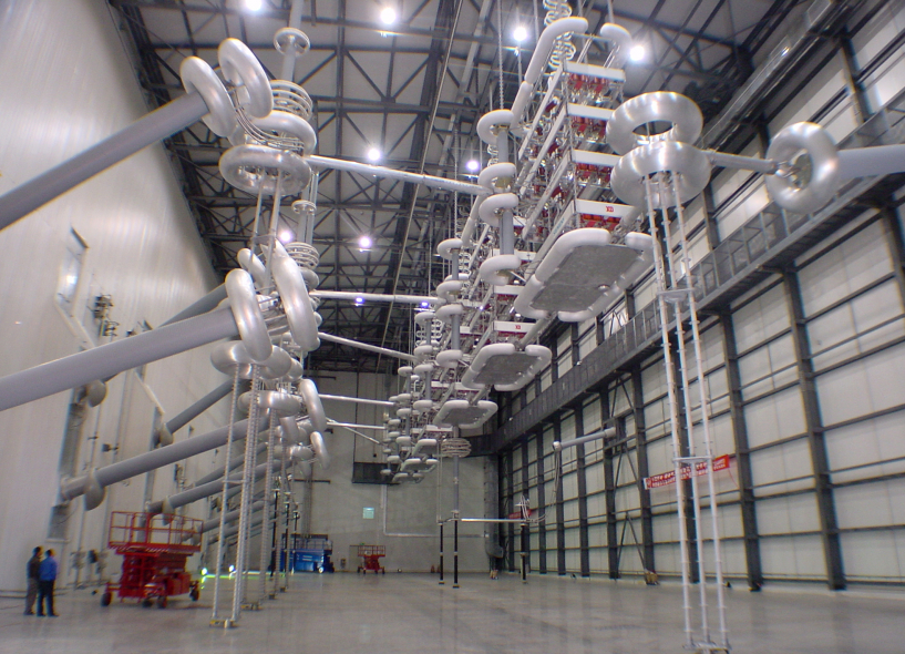 One of the substations of the new 1,500 kilometer HVDC transmission line in China.