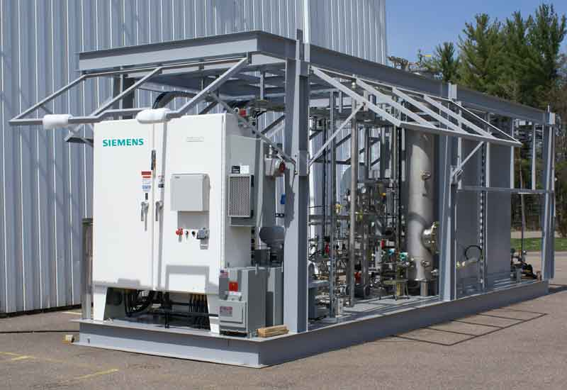 The Siemens EcoRight MBR pilot unit that was shipped to and is currently in  operation in Saudi Arabia.