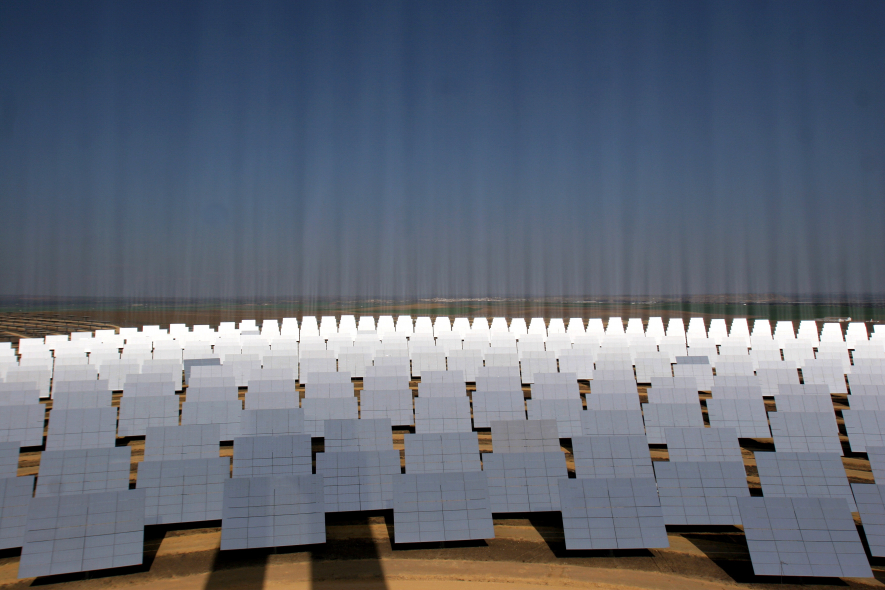 Dubai's solar park will have a final output capacity of 1GW. (GETTY IMAGES)