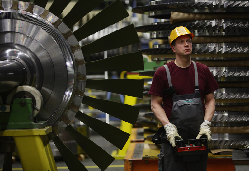 World's largest gas turbine engines for Turkey power plant. (Getty Images)