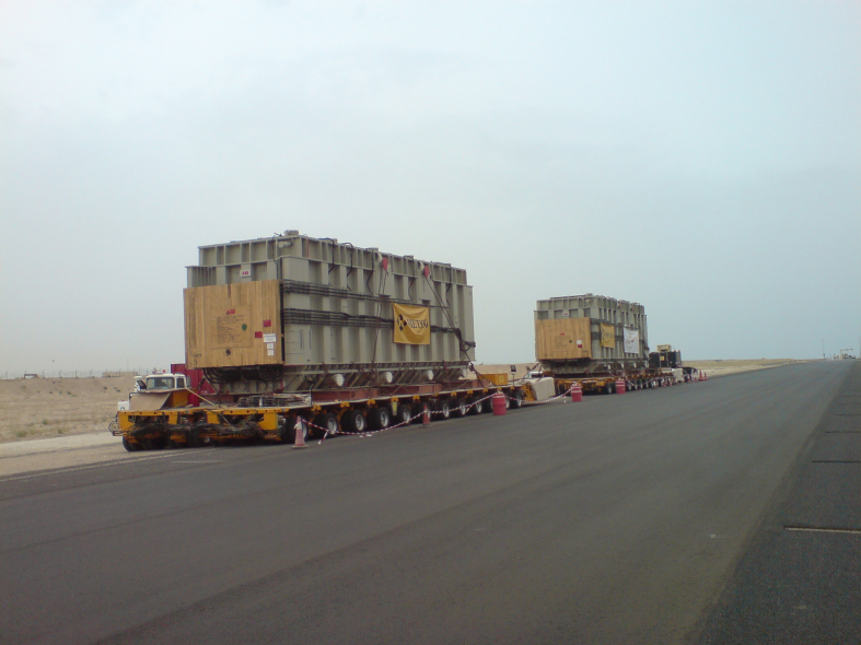 An ABB transfomer on its way to a substation in the Middle East.