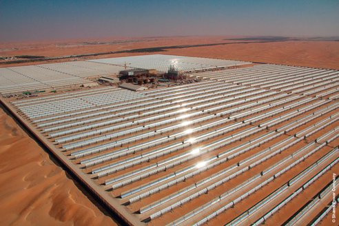 The solar project is crucial in Abu Dhabi's push for renewable energy sources