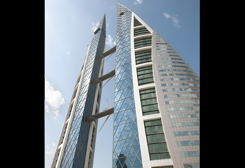 The Bahrain World Trade Centre is emblematic of the country's move towards renewable energy.