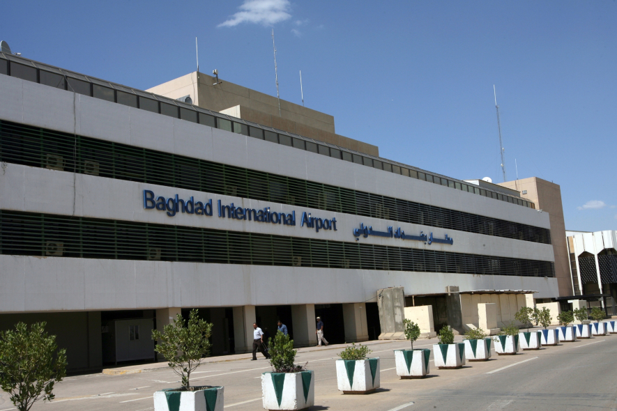 Honeywell employees have been arriving at this airport to start their new job in Baghdad.