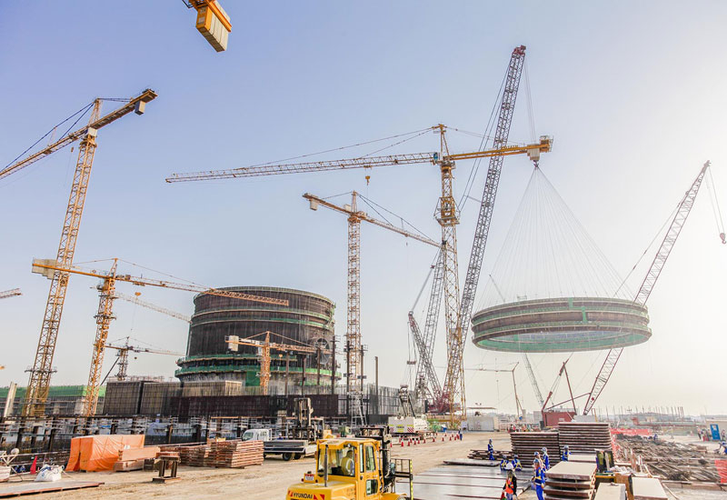 The 2,000 tonne cylindrical structure measures nearly 60m in height and 45m in diameter
