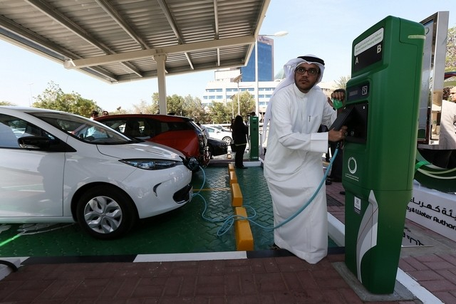 Electric cars preserve the environment by using less energy and water