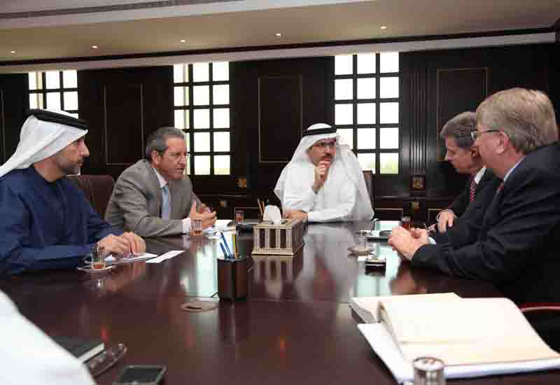 HE Saeed Mohammed Al Tayer MD & CEO of DEWA receives a delegation from Siemens.