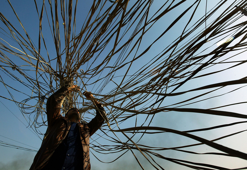 Commentators have suggested that massive demand on the network may have overloaded northern India's grid. (GETTY IMAGES)