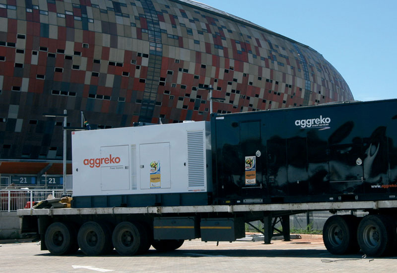 Aggreko supplied the Fifa World Cup with temporary power this spring.