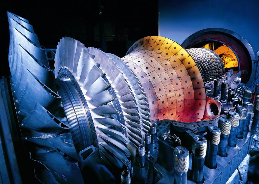 A Siemens gas turbine.