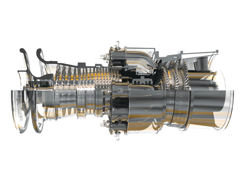 The GE 9FA Heavy Duty Frame Gas Turbine.