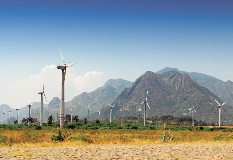 India has more than doubled its onshore wind capacity in the past five years. (Shutterstock)