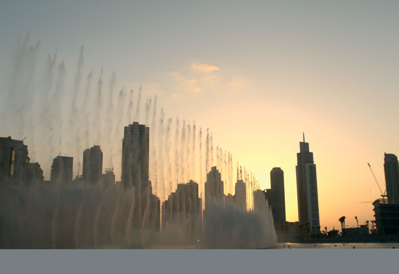 Fountain displays can be run with recycled wastewater, saving vast amounts of potable water.