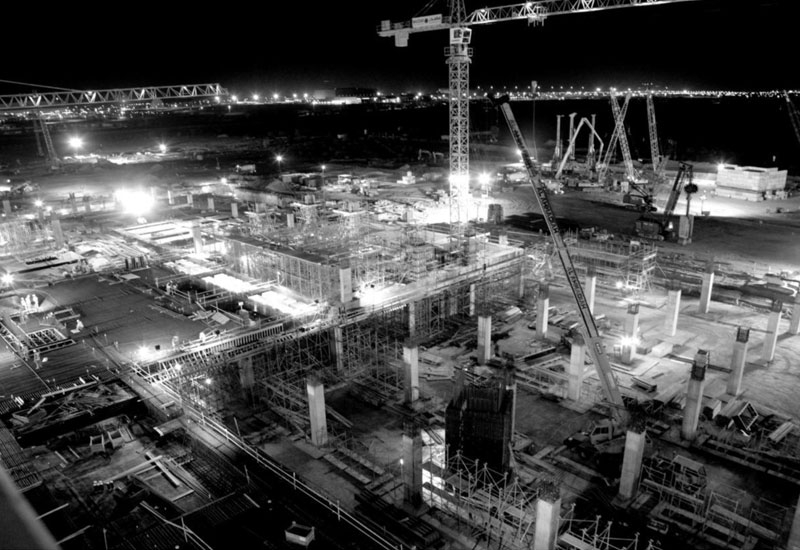 A recent photo of the work at the Masdar site shows that the construction phase is under way.