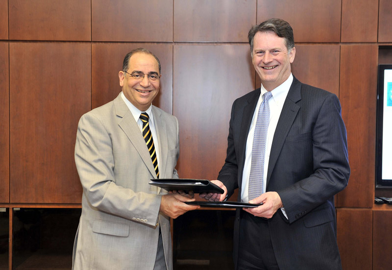 Steve Sonnenberg, president of Emerson Process Management and Dr. Ismail Tag, Acting President and Provost, PI.