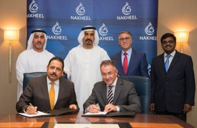 Nakheel officials at the signing ceremony