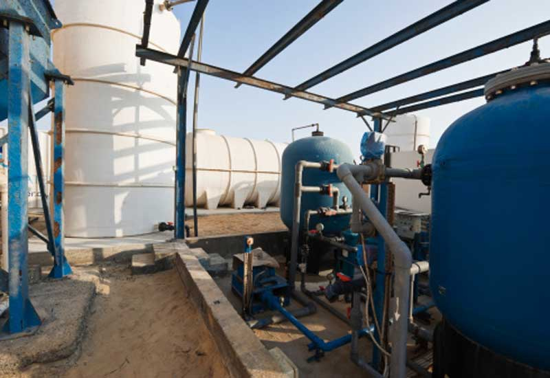 The plant is intended to supply water to 800,000 people
