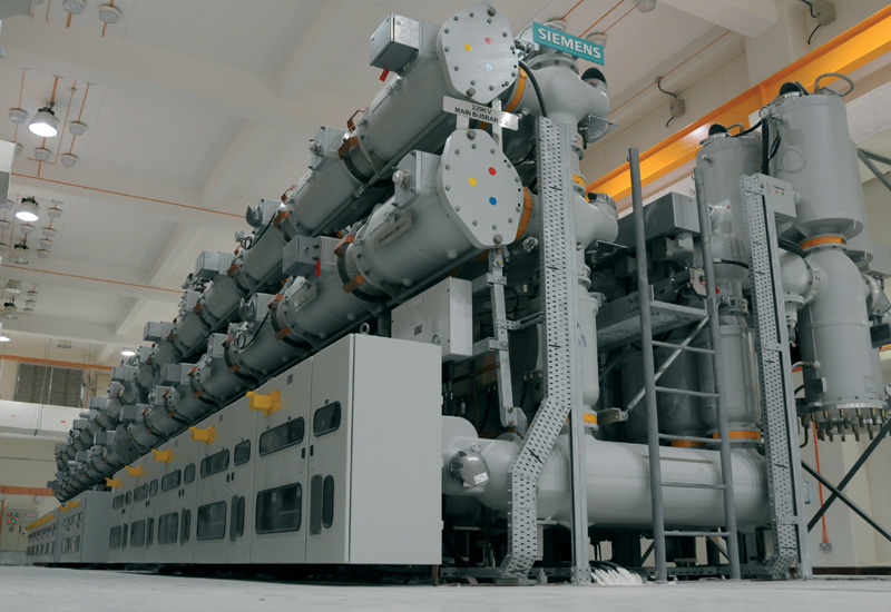 A Siemens 220kv gas insulated switchgear substation in Qatar.