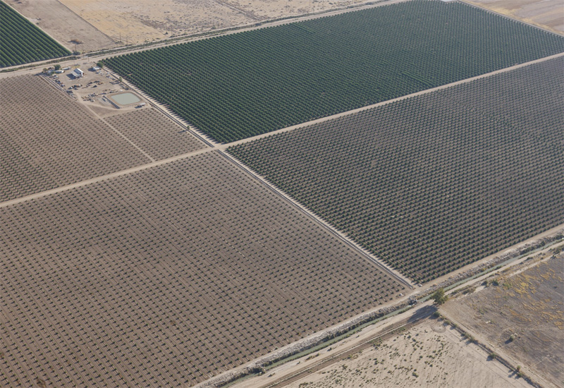 Solar panels from the air (image for illustrative purposes).