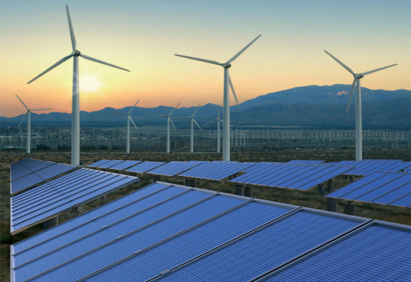 Renewables now account for 16.7% of global power consumption. (GETTY IMAGES)
