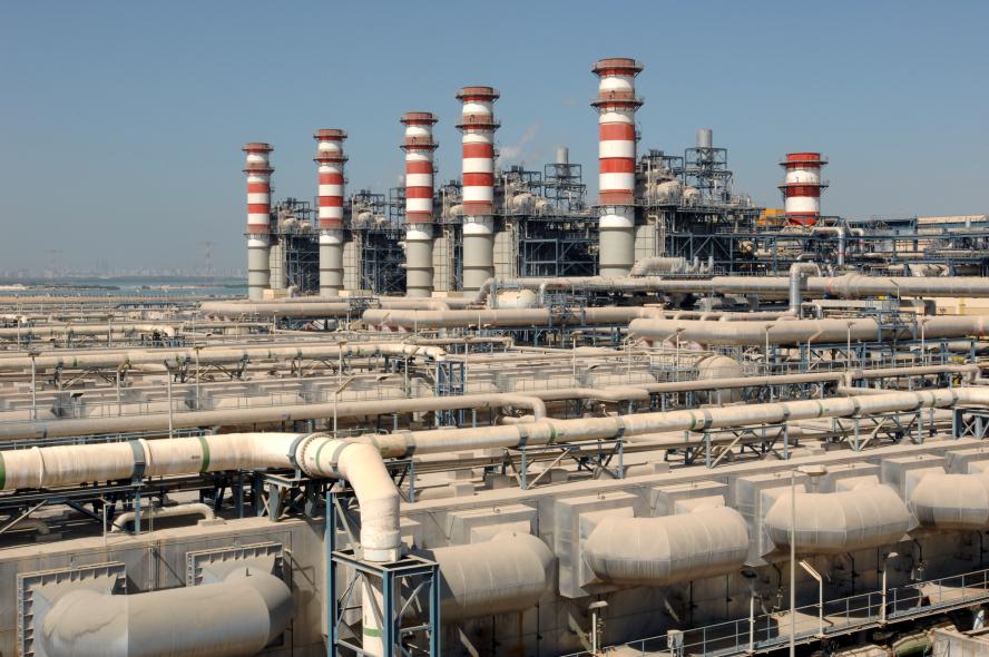 Power infrastructure in Saudi Arabia.