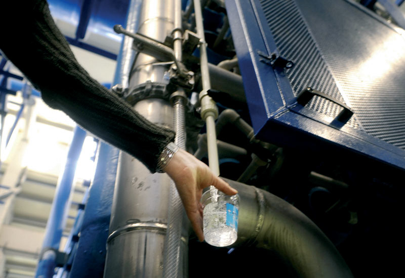 Once completed in the middle of 2012, the plant is expected to supply potable water to 150,000 to 200,000 people.