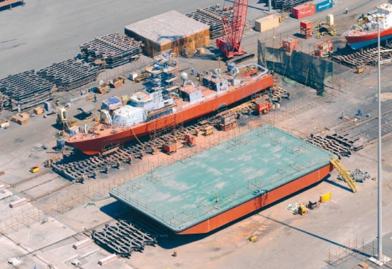 The ASRY shipyard in Bahrain