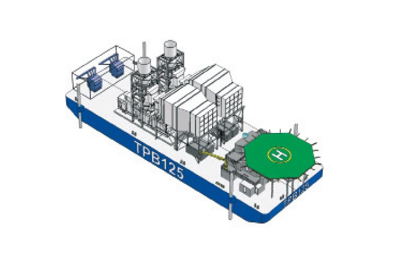 An example of the layout of a Centrax power barge.