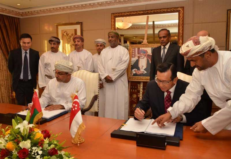 The JV between Sembcorp and Oman Oil is signed.