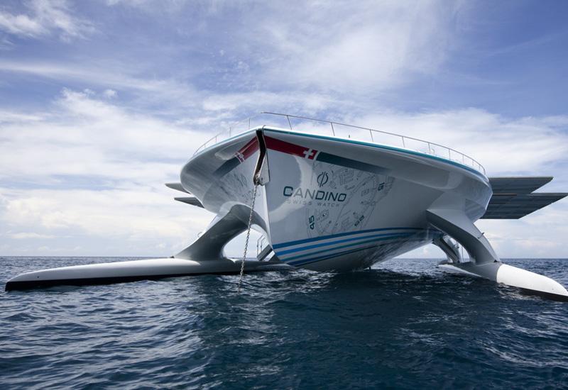 World's largest solar ship docks in Abu Dhabi.