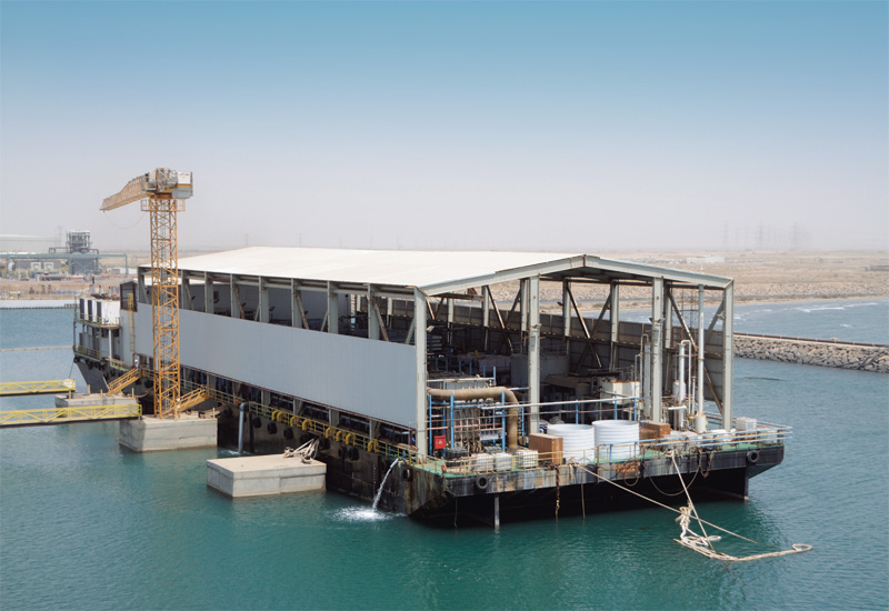 ACWA have commissioned two desalination barges near the Shuaibah III plant, desalinating 50,000 cubic meters of water per day.