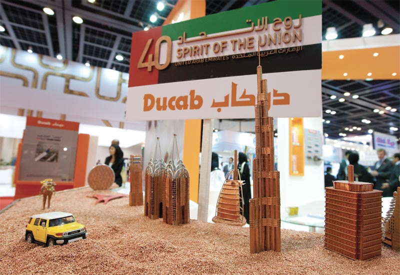 Ducab's stand clebrated the UAE's anniversary in a cable-tastic fashion.