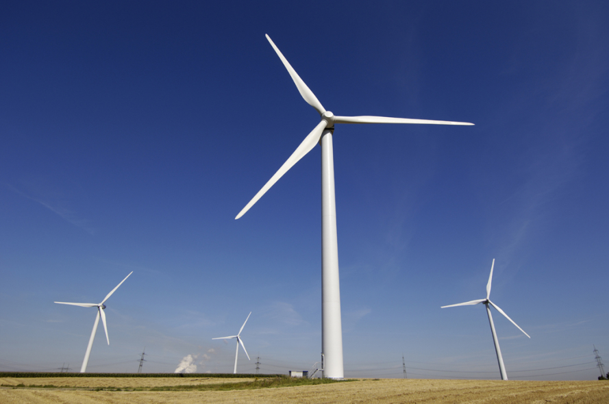 The wind turbine is located in the northern Qazvin province
