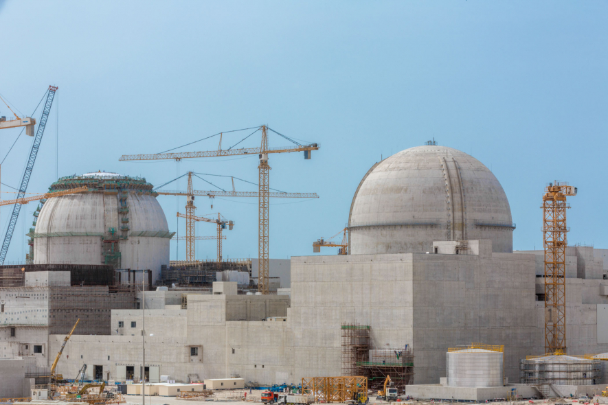 The nuclear plant west of Abu Dhabi is being built by a consortium led by the Korea Electric Power Corporation