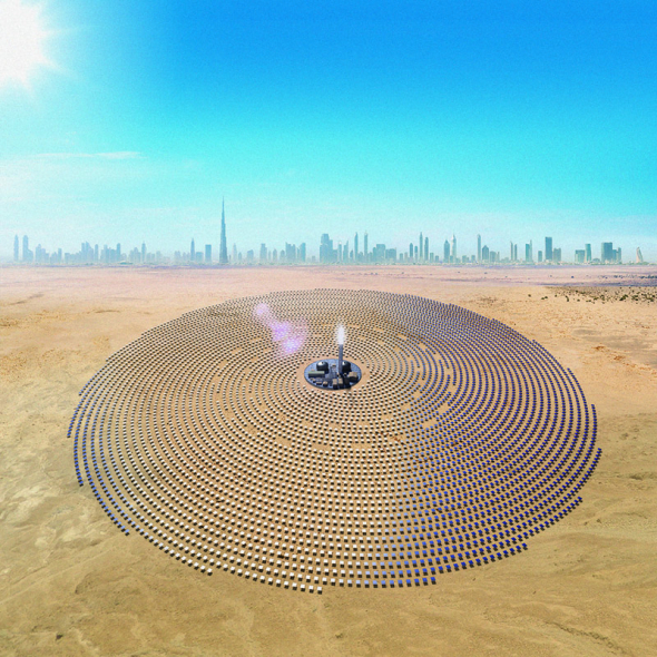 Concentrated Solar Power (CSP) park is being built in Dubai. It is part of the fourth phase of the Mohammed Bin Rashid Al Maktoum solar park with a total capacity of 950MW