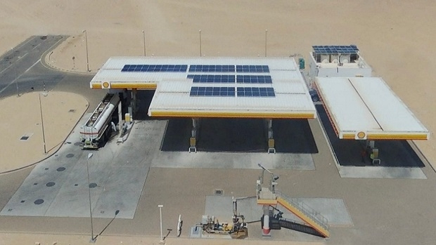 The Shell Mukhaizna service station's solar system will contribute to the reduction of the site's carbon footprint by approximately 900 tons in an average of 25 years