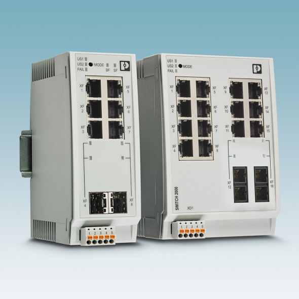 Phoenix Contact is extending its range of Managed Switches in the FL Switch 2000 product range