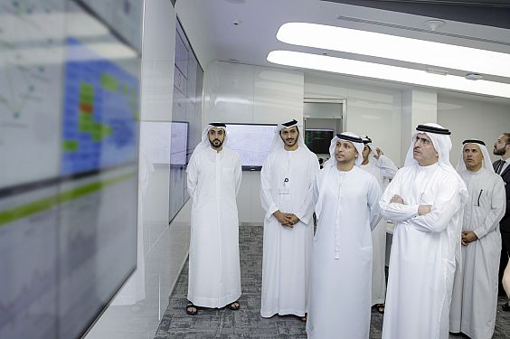 Saeed Mohammed Al Tayer opening the new DEWA digital command center